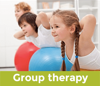 Children doing group therapy